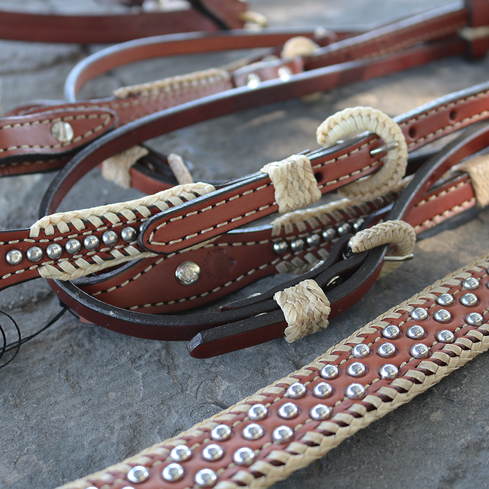 3614-TP STRAIGHT BREASTCOLLAR WITH SPOTTING AND SPANISH LACING