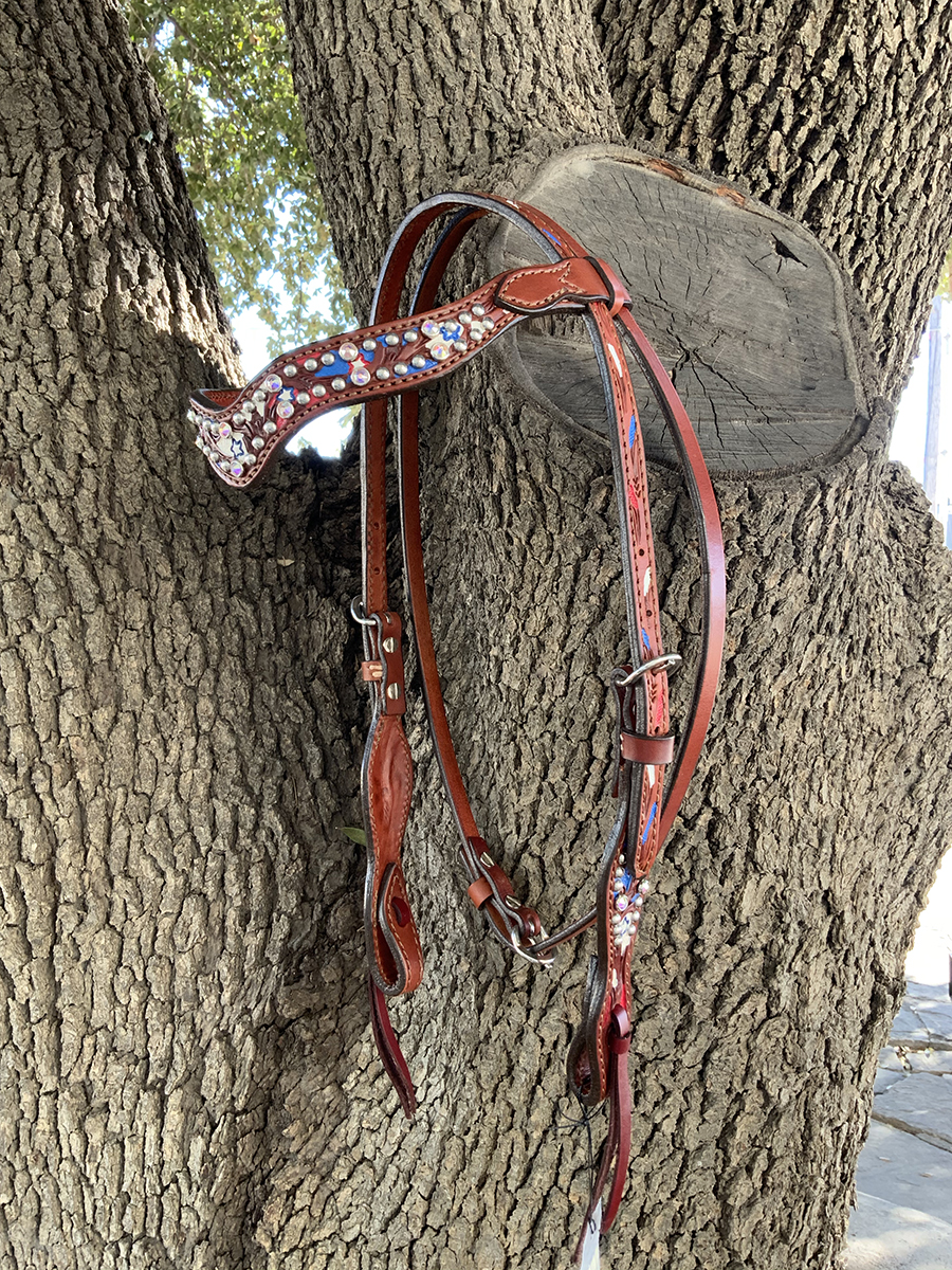 2117-USAJ USA Jeweled browband