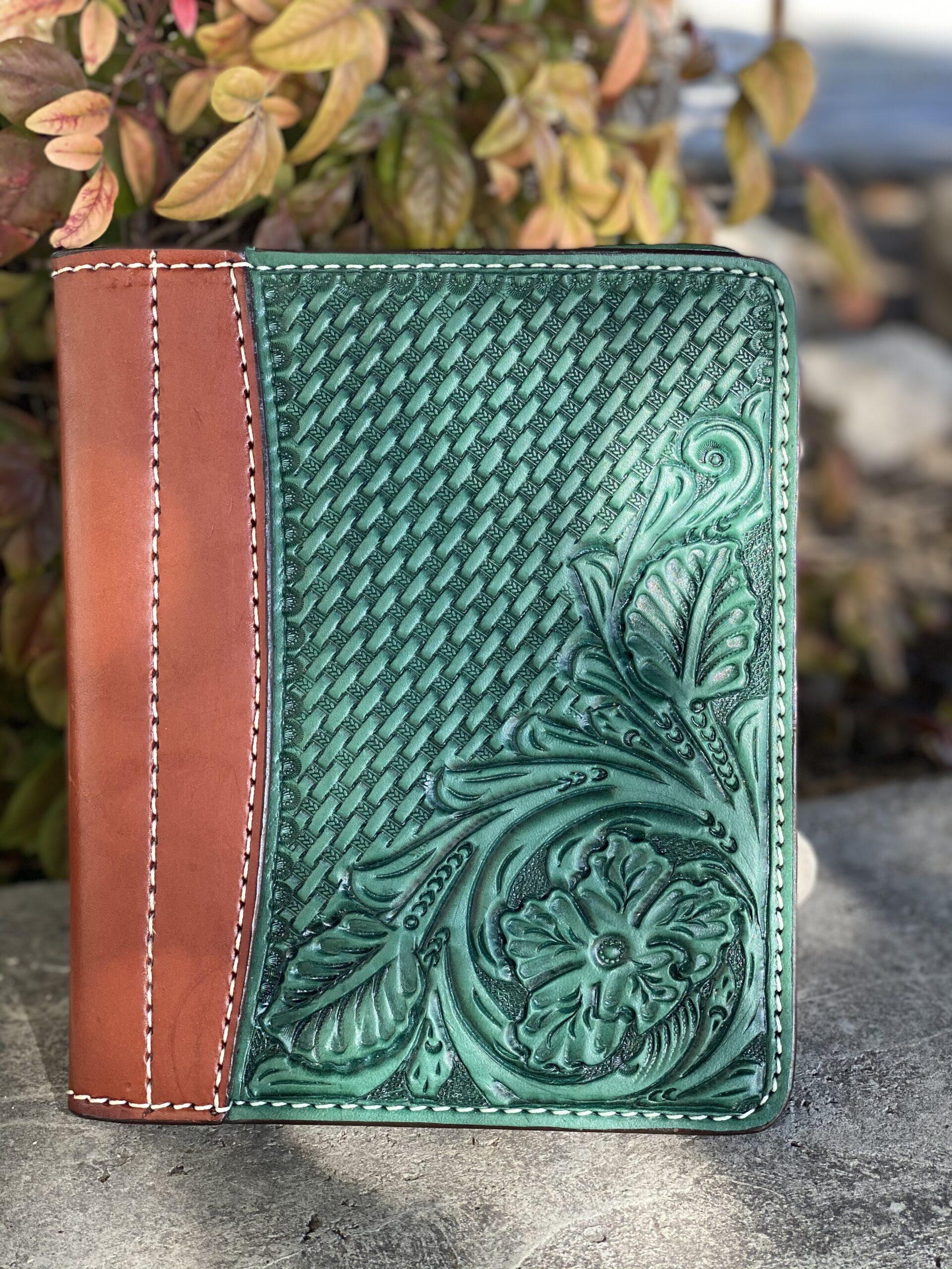 Turquoise  Combo Tooled Mini Portfolio/Planner