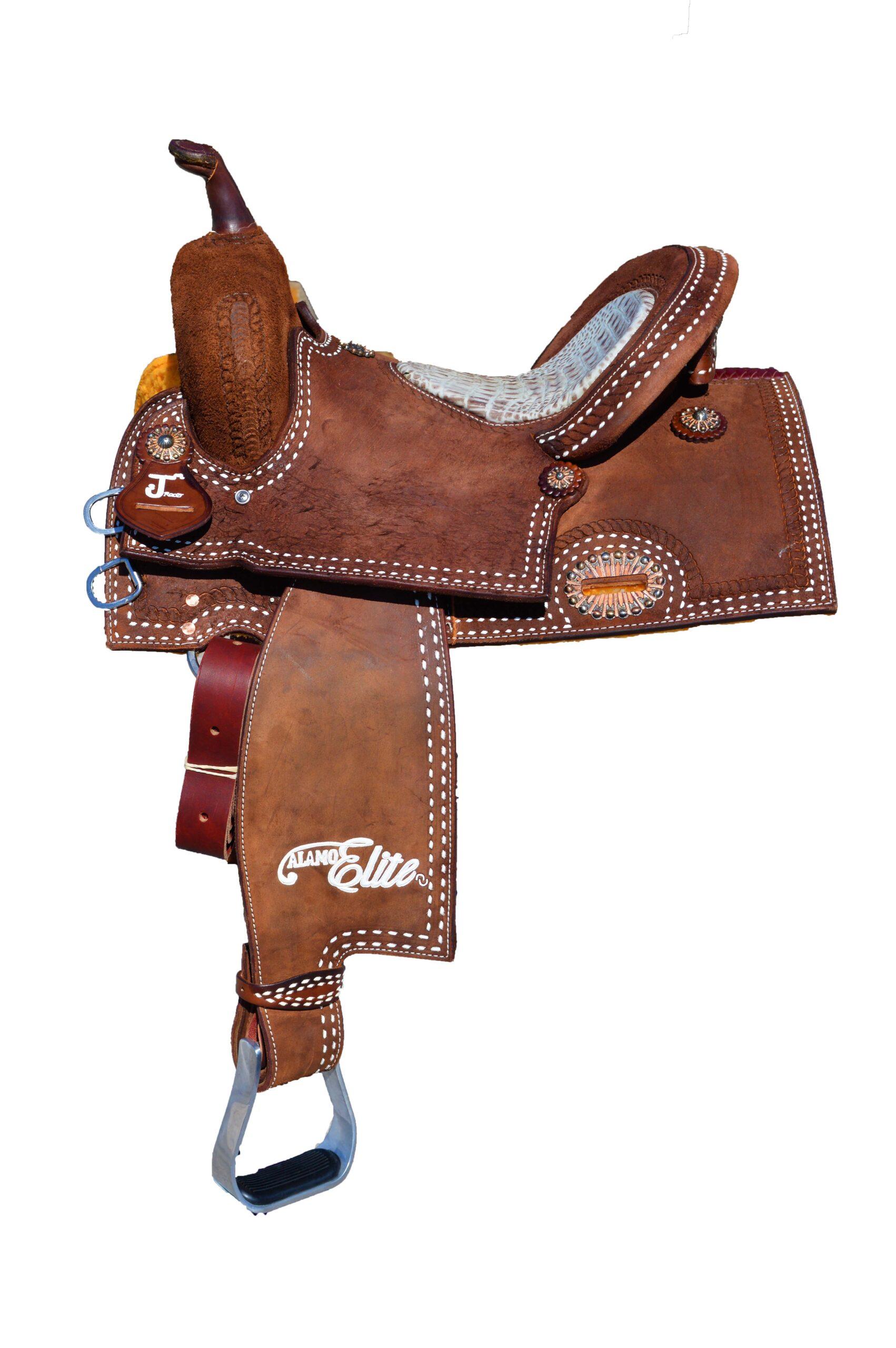 <b>14.5in</b><p>Sherrylynn Johnson R/O barrel saddle</p>