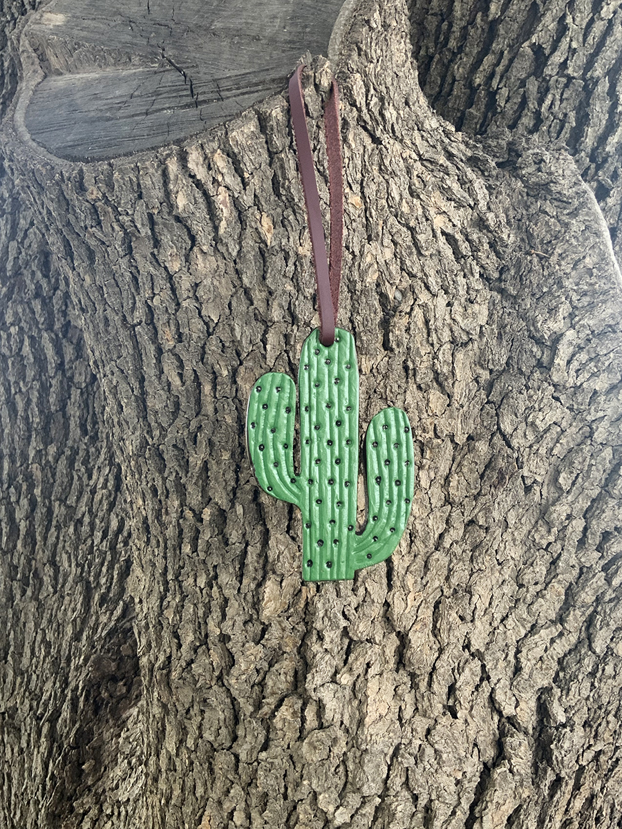 Charm Green painted cactus