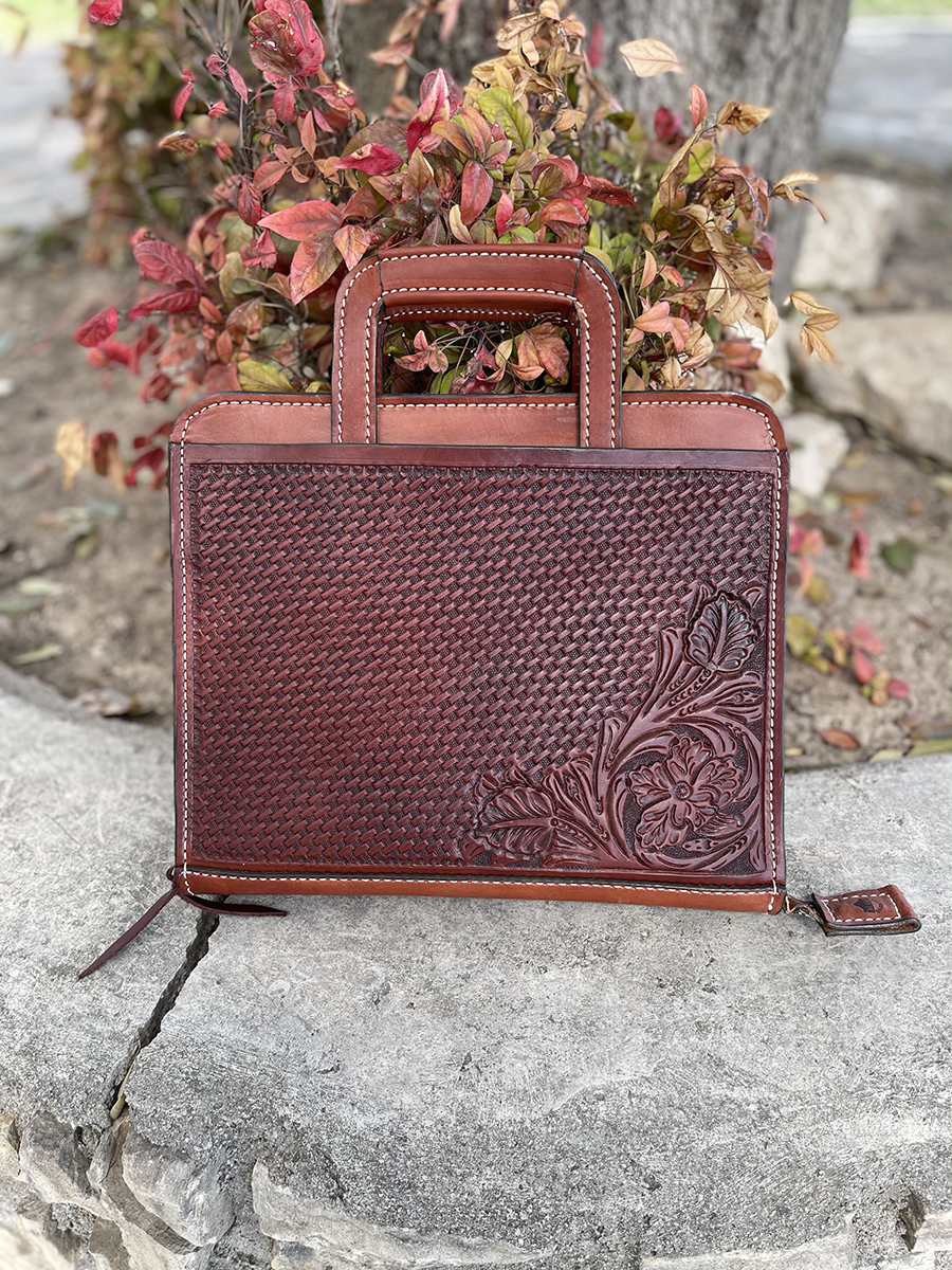 Cowboy briefcase toast combo tooled