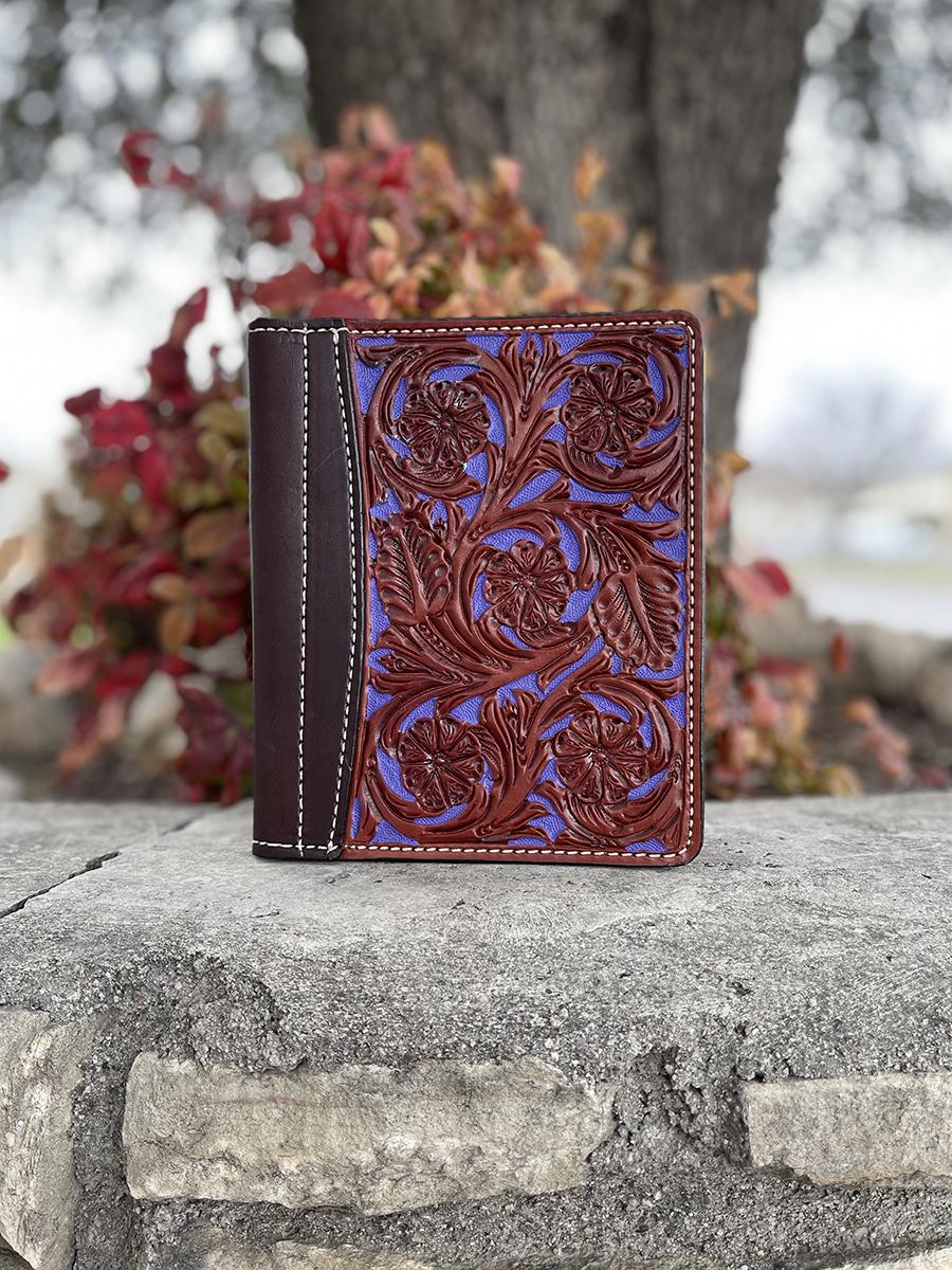 Floral purple mini portfolio