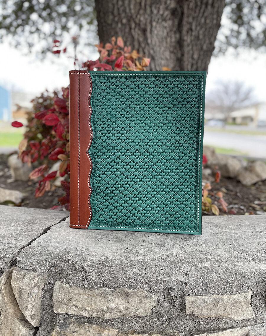 Portfolio turquoise barbwire tooled