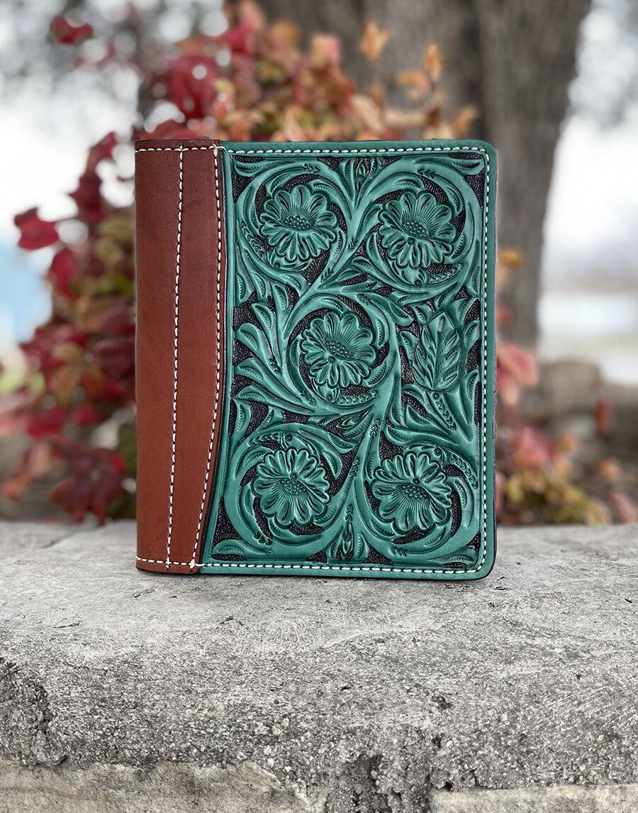 Turquoise Floral Mini portfolio