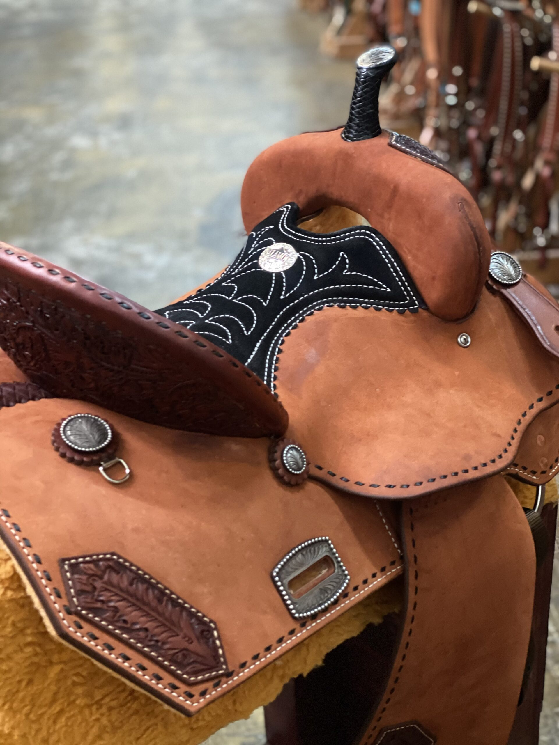 <b>14.5in</b><p> SD 0818 Barrel/pleasure saddle </P>