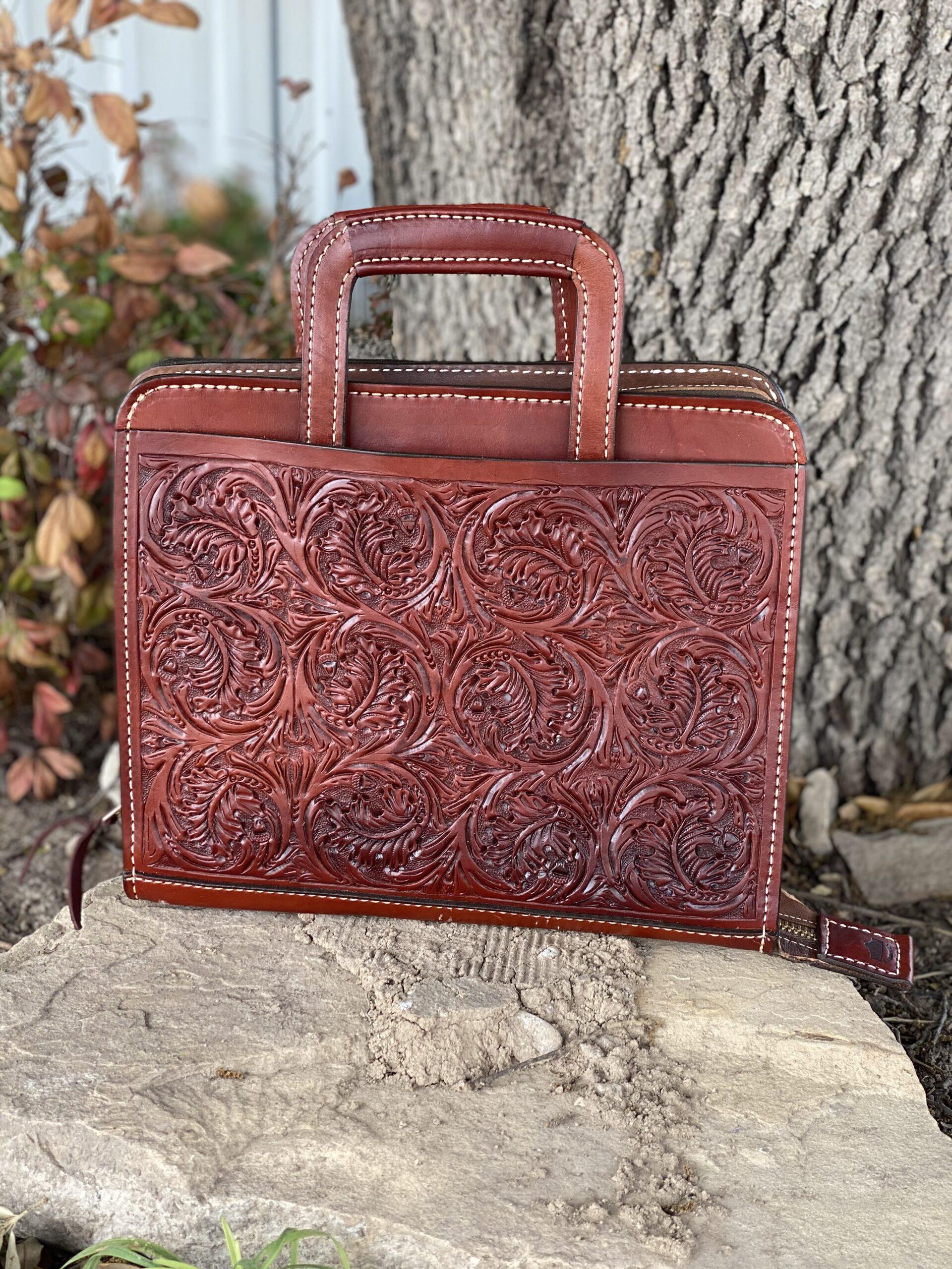 Toast oakleaf Cowboy Briefcase