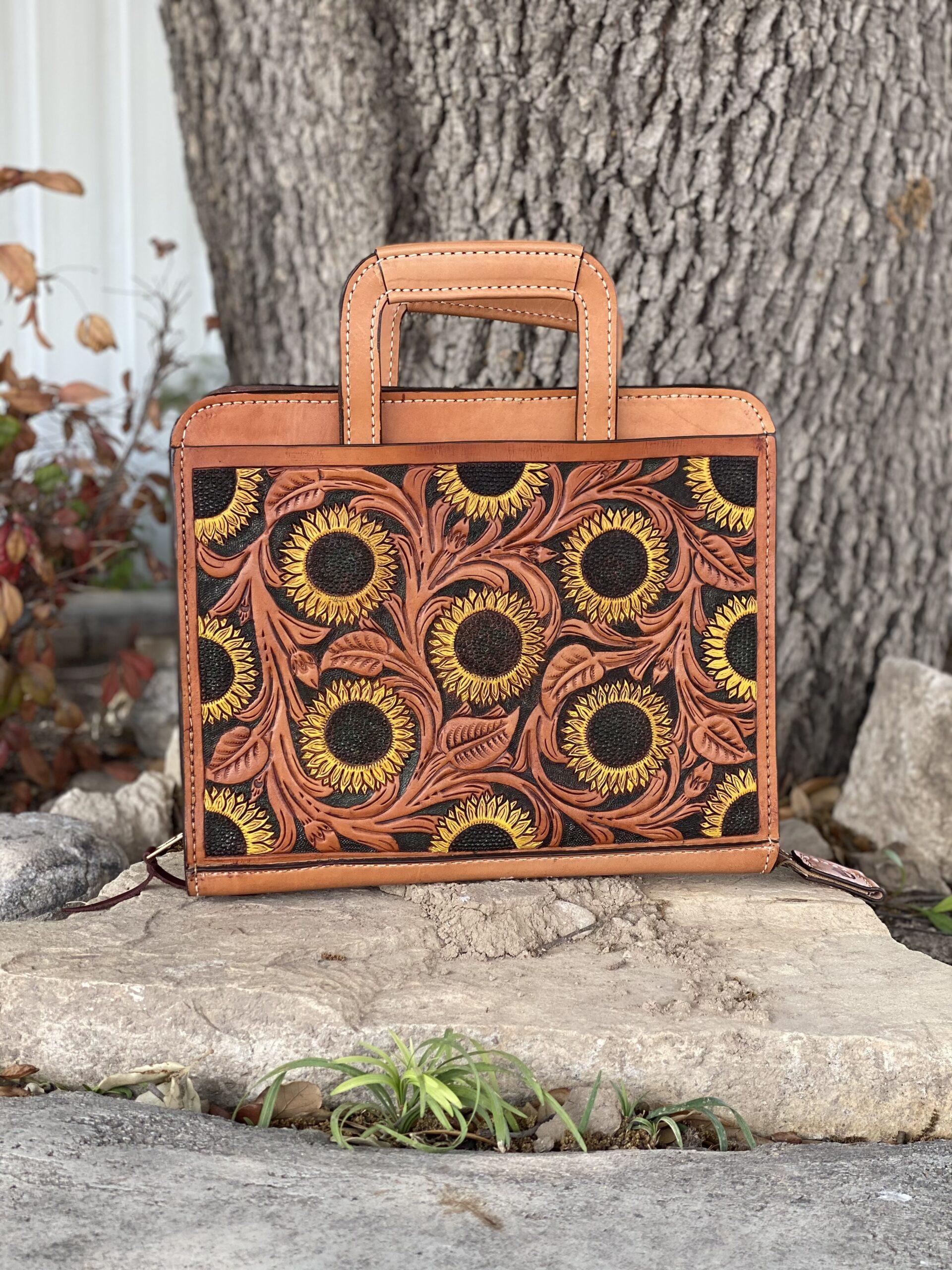 Sunflower Cowboy Briefcase