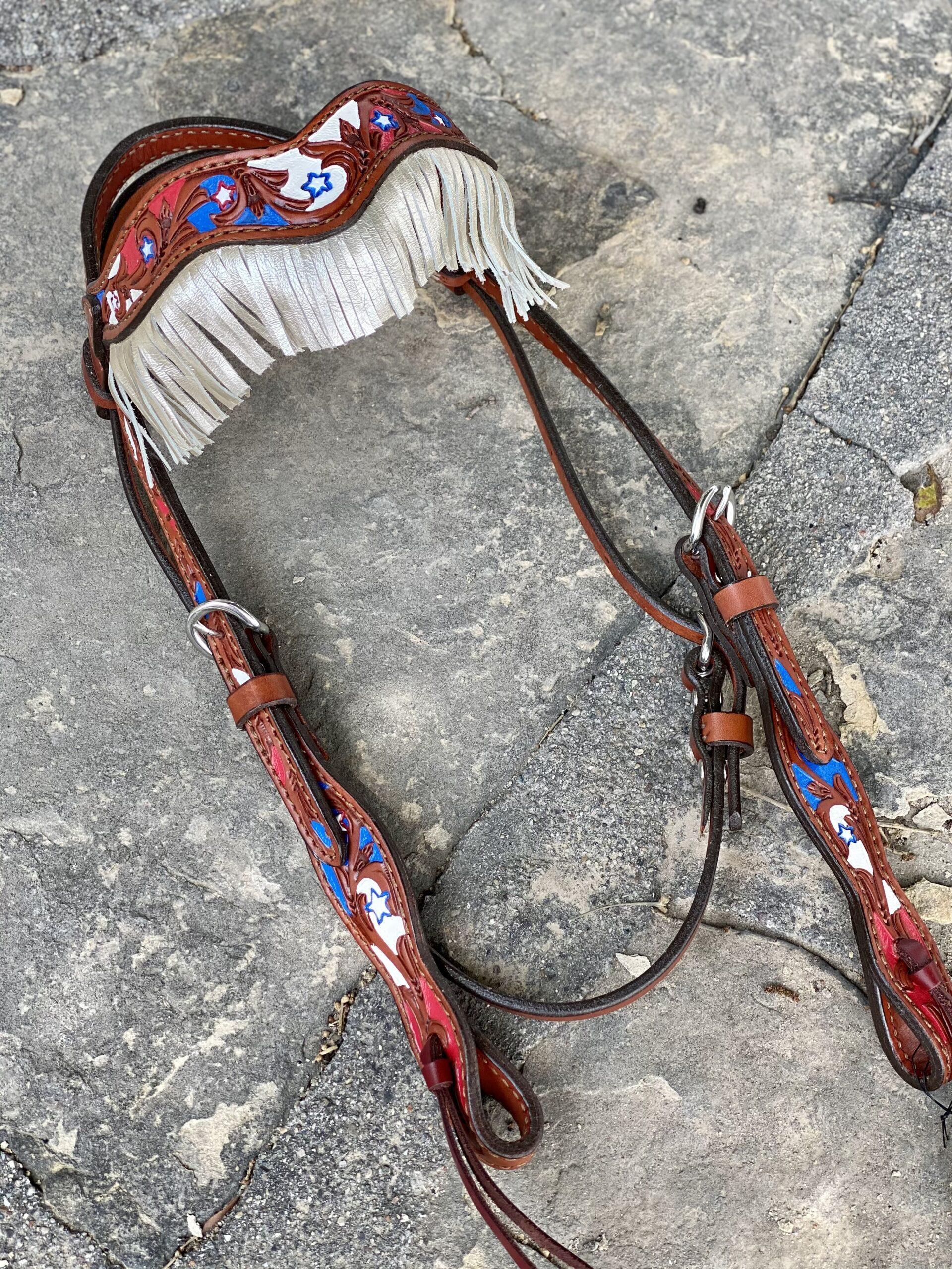 2F17-USA  fringe headstall