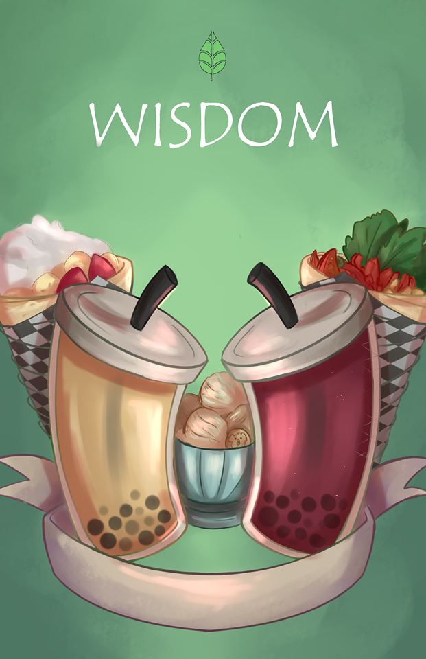 Bubble Tea Wisdom Cafe sweet crepe