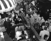 A busy night at Paoli's. In view is the Oyster Bar, with part of the main dining room and the bar. Author's collection.