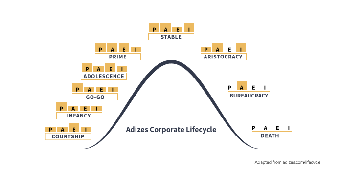Grant Ian Gamble Business Consulting | Author | Speaker | Coach | The Affinity Principle | Blog | How and When to be a Diplomatic Leader in Order to Foster Collaboration | Adizes Corporate Lifecycle