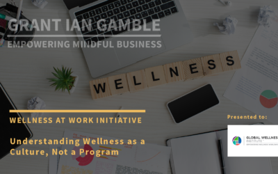 Wellness at Work Initiative: Wellness as a Culture, Not a Program
