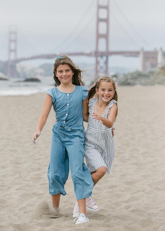 sisters at Baker Beach