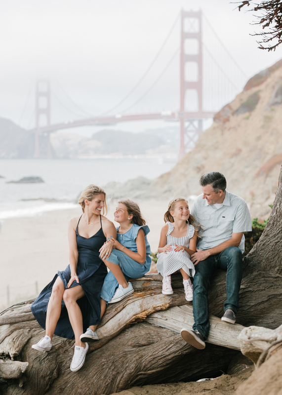 Lifestyle Family photo session at Baker Beach