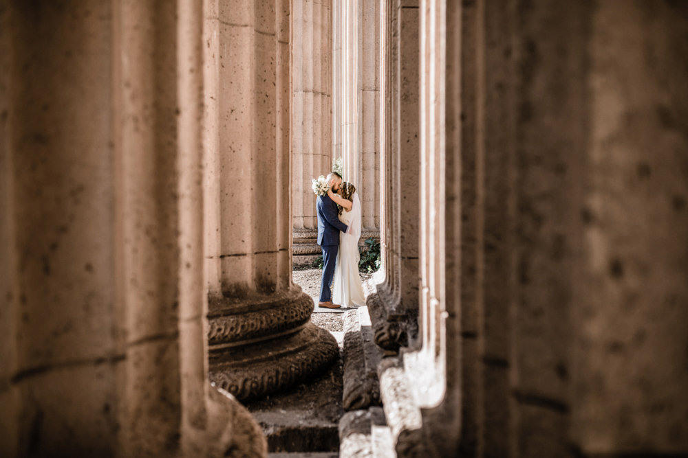 wedding at the Palace of Fine Arts in SF