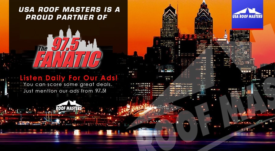 USA Roof Masters Bensalem PA Bucks County 97.5 Radio Ad