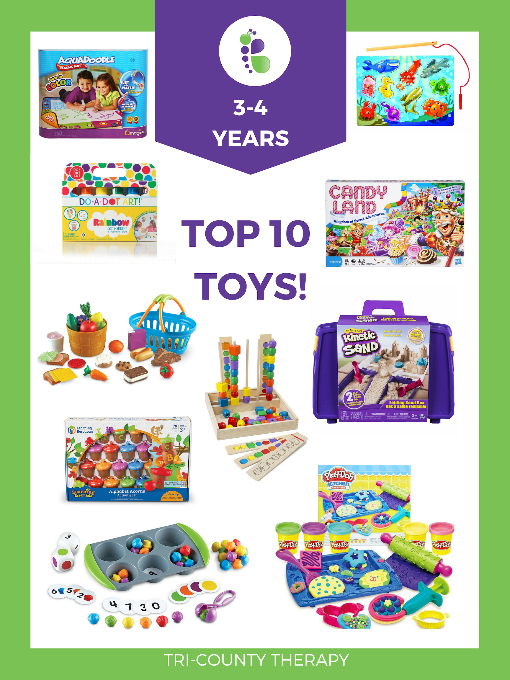 Tri County Therapy, three year old, four year old, Favorite Toys, Top Toy Picks, Child's Toy, Therapy Toy, Greenville, Charleston, Ladson, Anderson, Pediatric Therapy, Child's Therapy