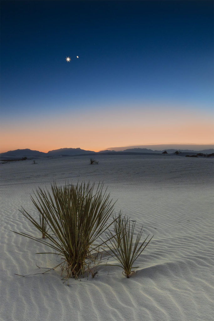 Bethlehem Star Over White Sands