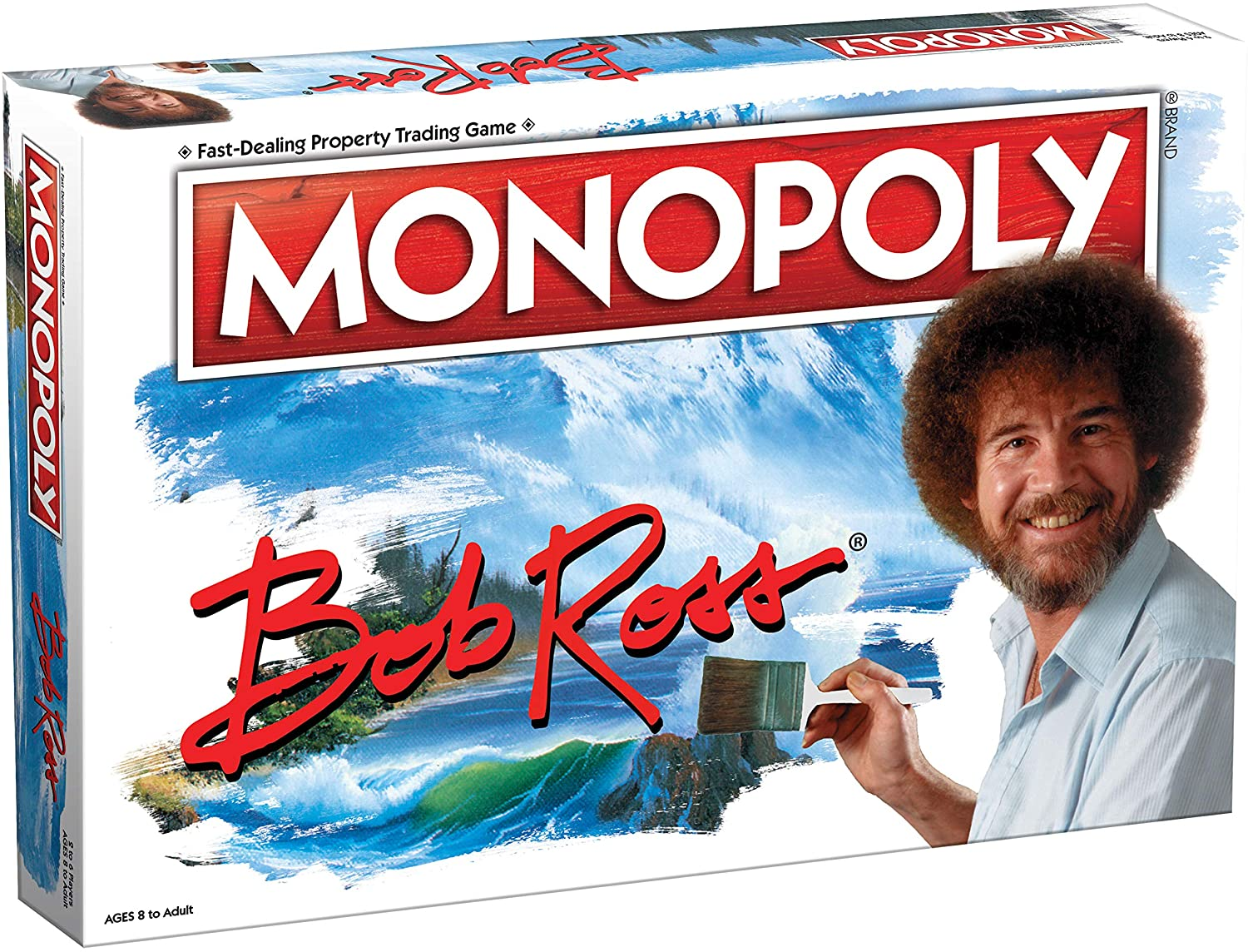 Monopoly Bob Ross   Collectible Monopoly Game Featuring Bob Ross Artwork   Officially Licensed Monopoly