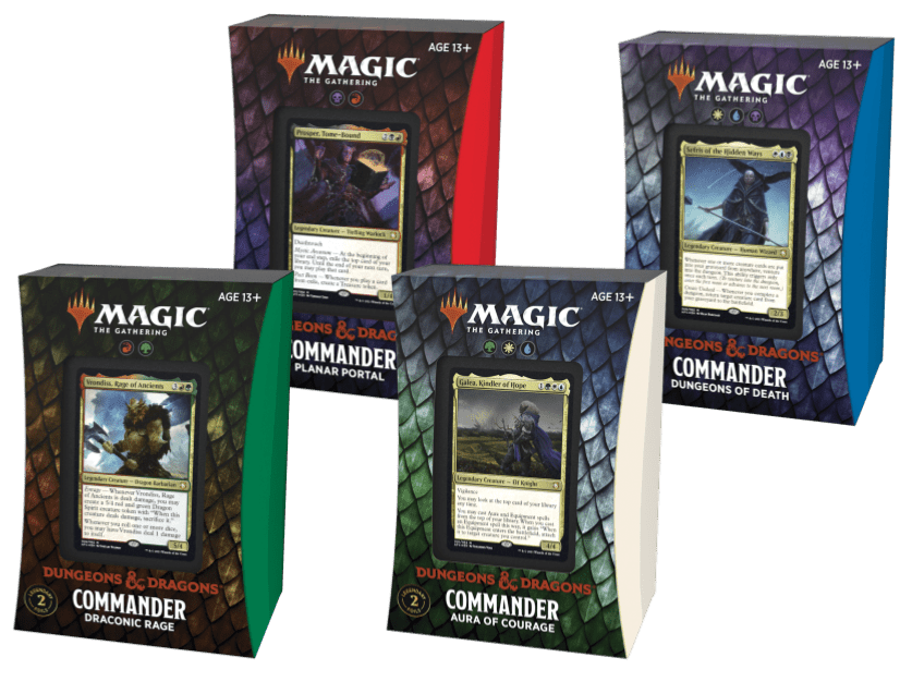 Magic: The Gathering – Adventures in the Forgotten Realms – Commander Decks (Set of All 4 Variations)