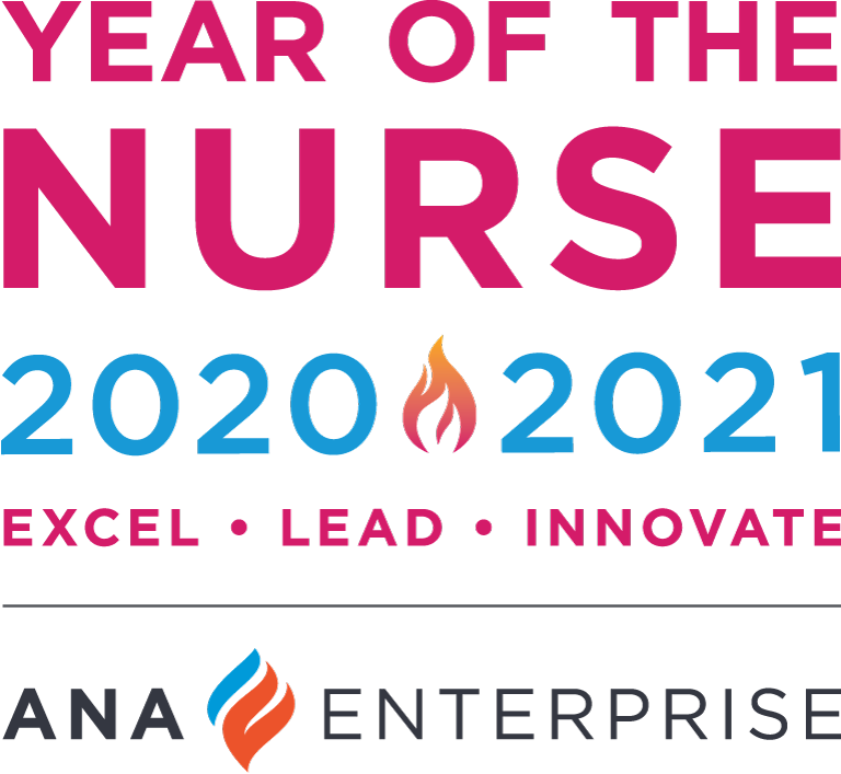 Year of the Nurse 2020-2021. Excel. Lead. Innovate. ANA Enterprise.