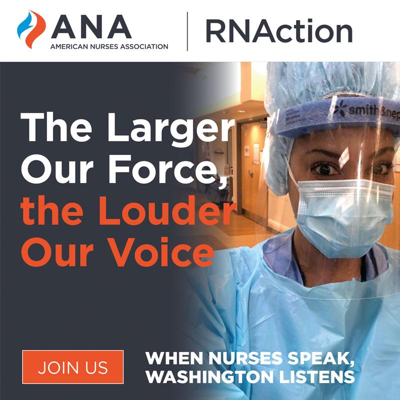 RNA Action The Larger Our Force The Louder Our Voice When Nurses Speak Washington Listens