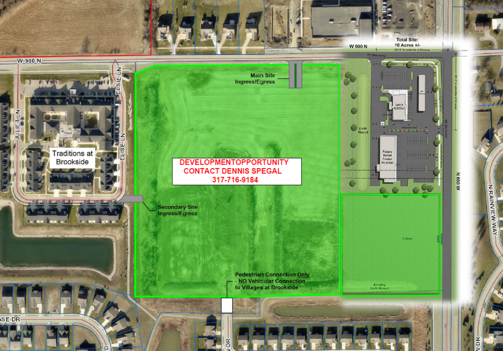 32 acres at the corner of County Roads 600W and 900N, McCordsville, Indiana