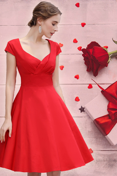 Valentine's Day Dresses - 1950's Cocktail Swing Dress