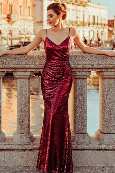 Sequin Evening Gowns - Ever-Pretty Sequin Mermaid Gown