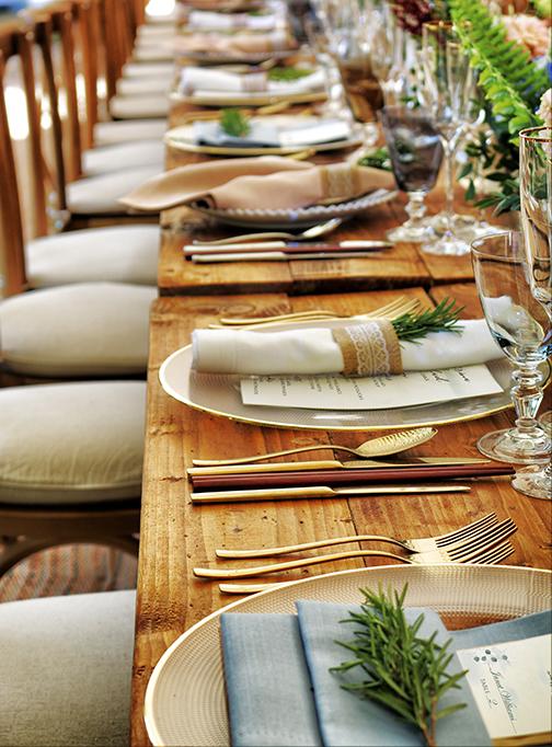 Greenery Wedding Table
