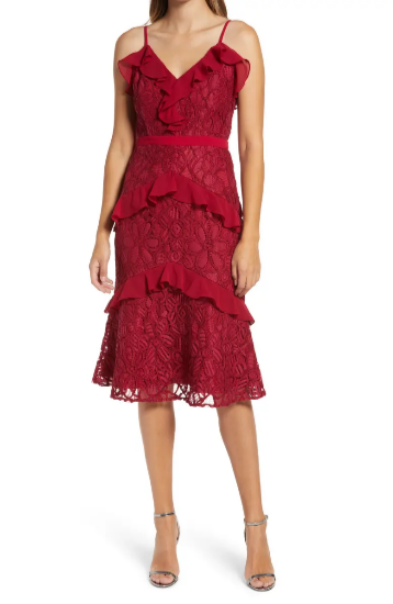 Valentine's Day Dresses - Adelyn Rae Enslie Embroidered Lace Dress