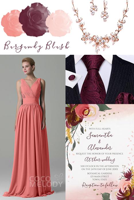 Burgundy and Blush Wedding Collection