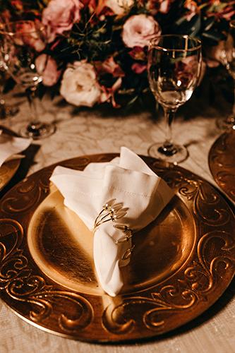 Burgundy Blush Wedding Table Setting