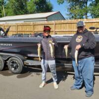 George Wells Fishing Trips Family Walleyes on Woman Lake