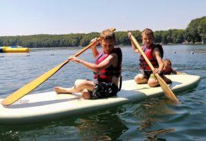 Paddle board fun on Lake 27