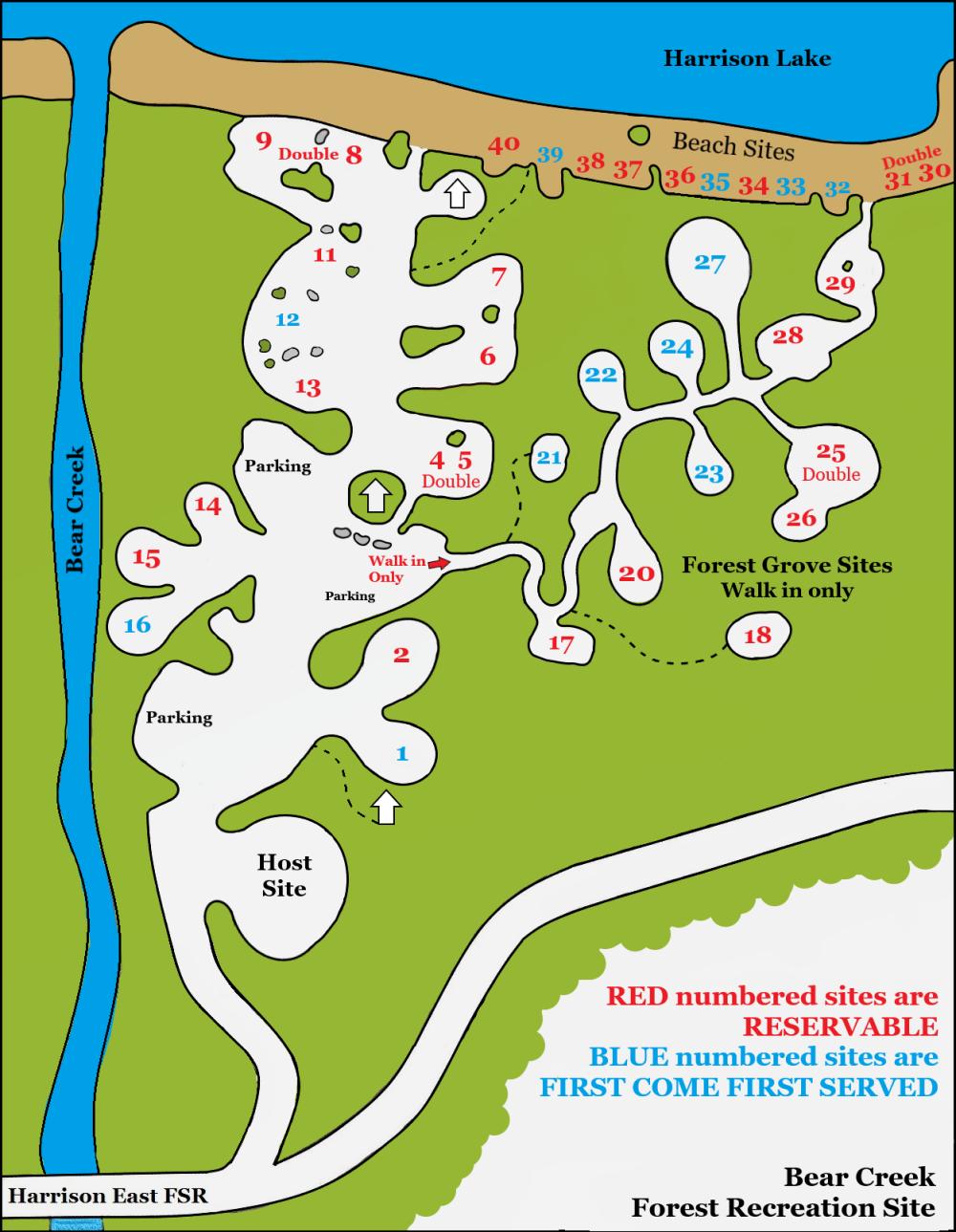 Bear Creek Map