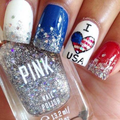 nail art 4th of july