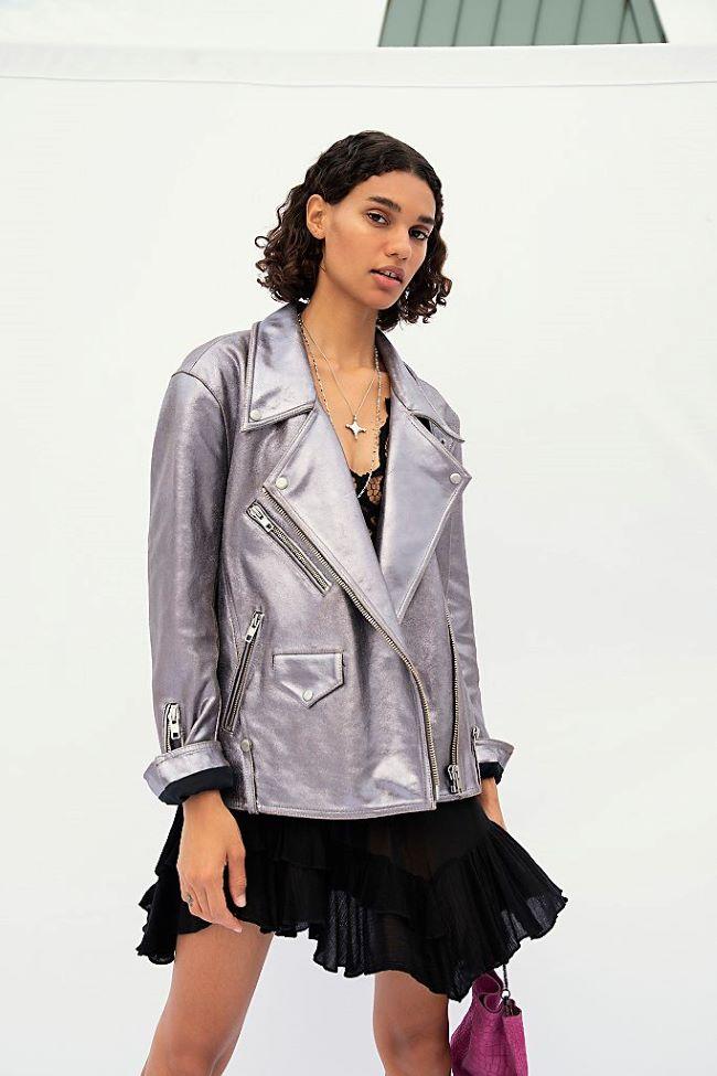 chaquetas metalizadas de moda