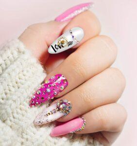 nail art valentines