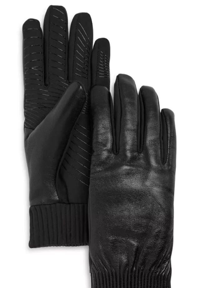 guantes en piel negros