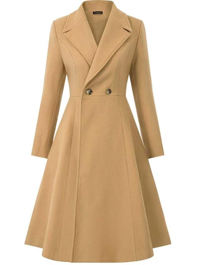 trench dress de moda este otoño invierno