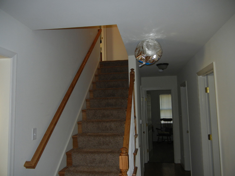 Repaired Hall and stairway