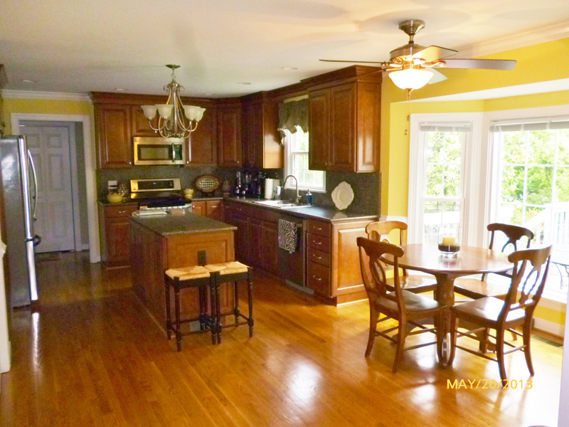 Picture of kitchen totally restored from fire damage.