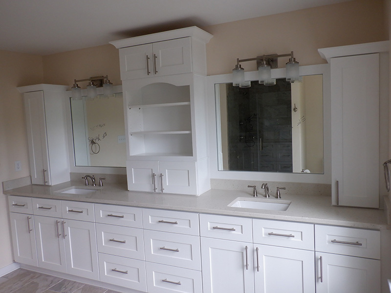 New beautiful bathroom after remodel