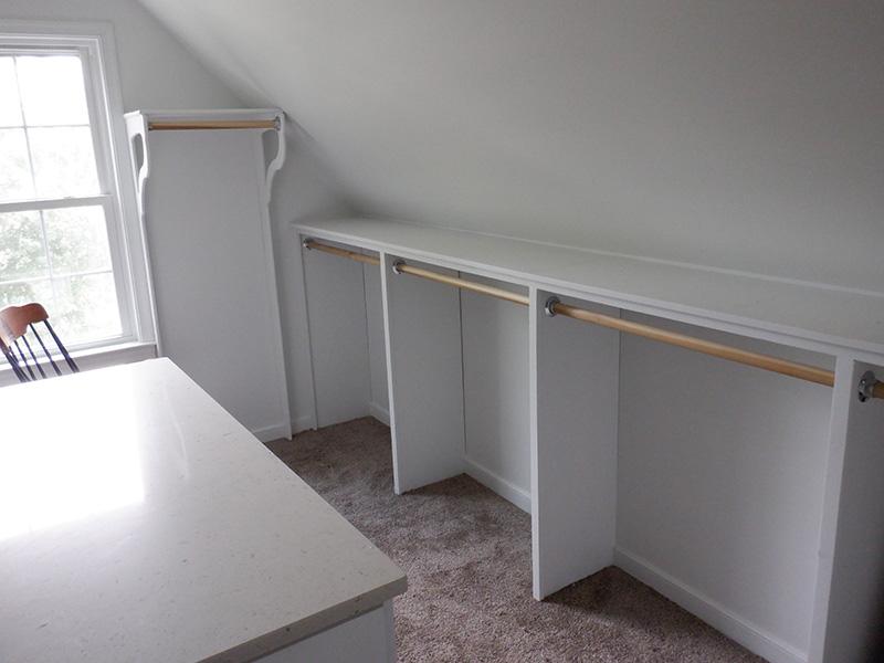 Image of closet after renovation