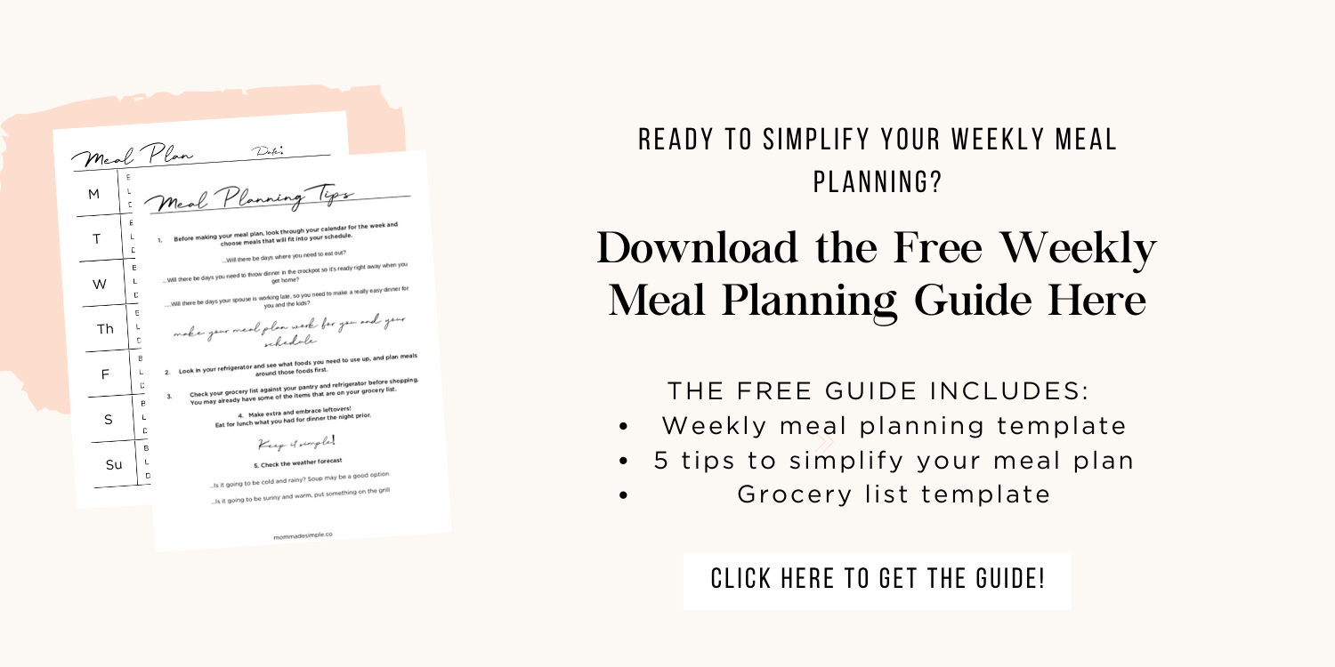 Weekly Meal Planning Guide