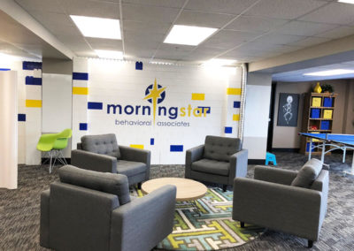 Morning Star Clinic Lego wall