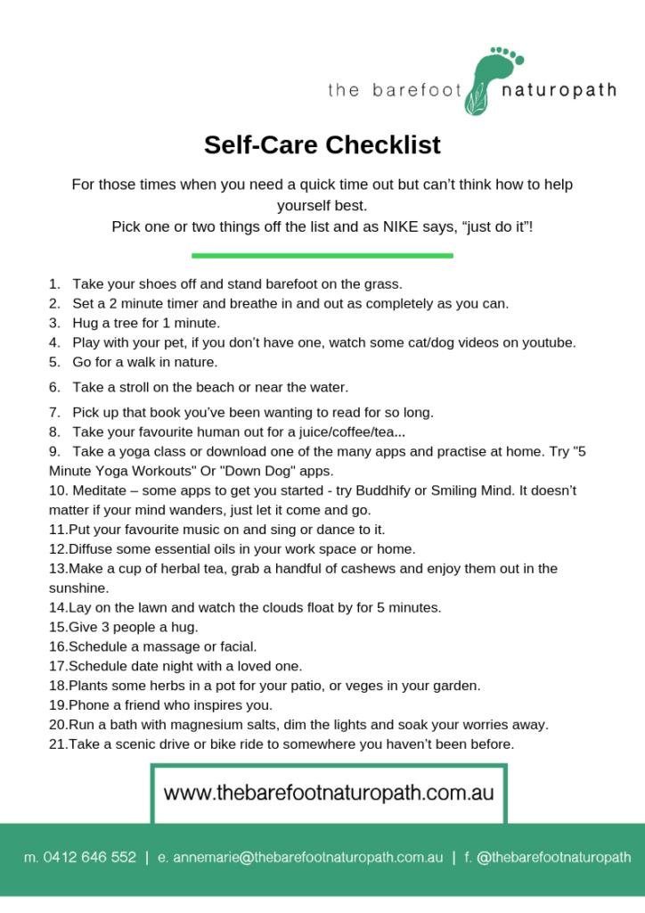 Stress less, self care