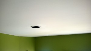 recessed can lights in the living room look like whack a mole